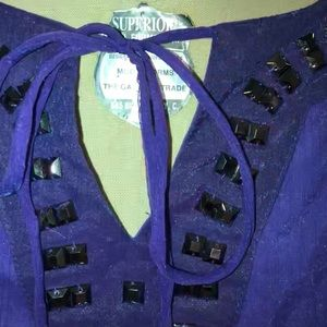 Women's purple C.O.C. 1XL top